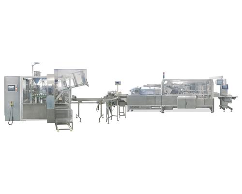 YRG-I全自动软膏灌装封尾联动生产线